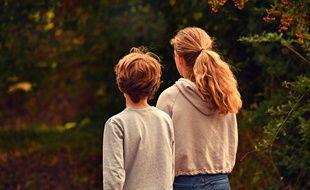 Deux enfants. Illustration.