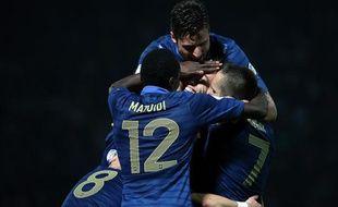 Les joueurs de l'équipe de France lors de leur victoire contre la Biélorussie, le 10 septembre 2013 à Gomel.