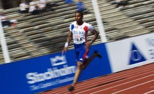 Le coureur de 400m Teddy Venel, lors des championnats d'Europe par équipe, le 18 juin 2011 à Stockholm.