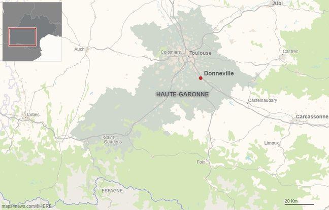 La commune de Donneville en Haute-Garonne.