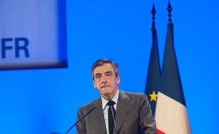 François Fillon en meeting à Poitiers le 9 février 2017.