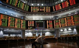La bourse de Kuala Lumpur en Malaisie, le 28 juillet 2015