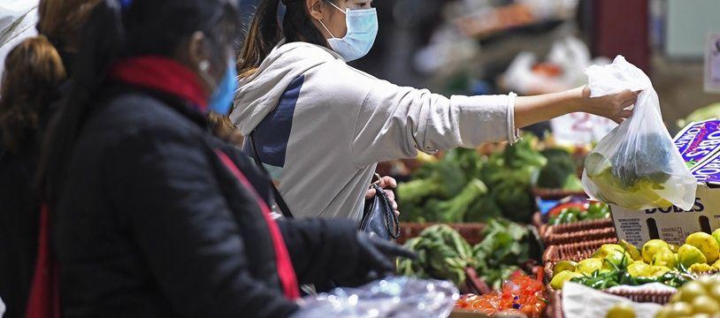 Les habitants de Melbourne se sont rués dans les marchés pour faire des courses le 2 août 2020.
