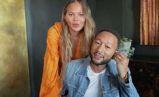 La mannequin Chrissy Teigen et son mari le chanteur John Legend