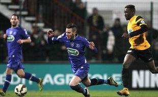 Mathieu Peybernes lors de Bastia-Quevilly le 20 janvier 2015.