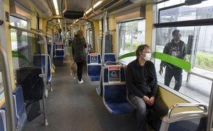 Une rame de tramway de la Semitan, à Nantes.