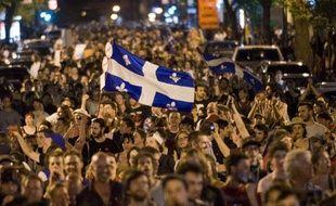 Manifestants à Montréal, le 20 mai 2012.
