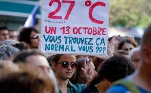Plus de 14 000 marcheurs pour le climat à Paris, le 13 octobre 2018.