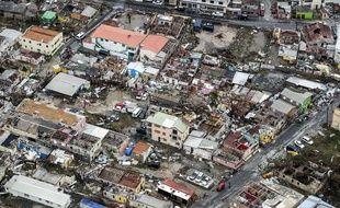 Les dégâts causés par l'ouragan Irma dans la partie néerlandaise de Saint-Martin.