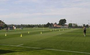 Les joueurs de Bologne à l'entraînement, le 6 mai 2020.