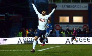 Lucas après son premier but avec Tottenham
