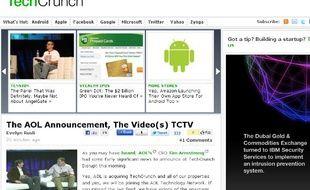 Capture d'écran de TechCrunch, 28 septembre 2010
