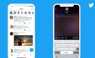 Les «fleets» de Twitter testés au Brésil ressemblent beaucoup aux stories de Snapchat ou Instagram.