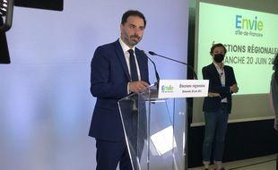 Laurent Saint-Martin, tête de liste LREM en Ile-de-France, le 20 juin 2021 à Paris.