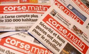 Des Unes du journal «Corse Matin »