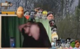 Capture d'écran de l'arrestation de Bibix, victime d'un canular alors qu'il jouait à un jeu vidéo en ligne, le 10 février 2015.