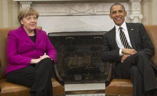 Le président américain Barack Obama et la chancelière allemande Angela Merkel à Washington le 9 février 2015