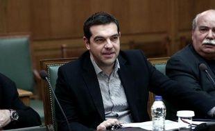 Le Premier ministre grec Alexis Tsipras à Athènes, le 29 mars 2015