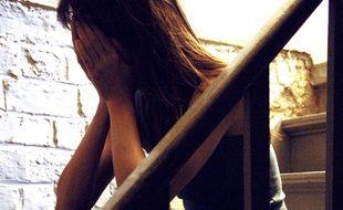 Une jeune femme déprimée.