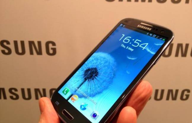 Le Galaxy S III, de Samsung, présenté le 3 mai 2012.