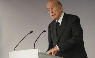 Valéry Giscard d'Estaing, le 14 octobre 2014 au Bourget.