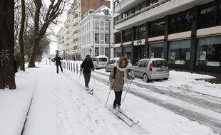 Entre 1cm et 8cm de neige sont attendus, mardi, dans les Hauts-de-France (illustration).