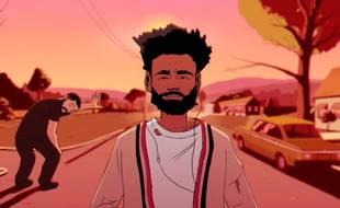 Les doubles animés de Drake et Childish Gambino (Donald Glover) dans le clip de «Feels Like Summer».