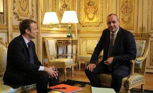 Emmanuel Macron et Laurent Berger, le 13 octobre 2017 à l'Elysée.