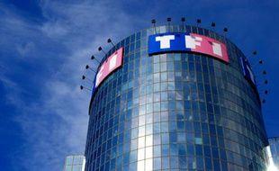 Le siège de la chaîne TF1 à Boulogne-Billancourt, le 10 juillet 2008