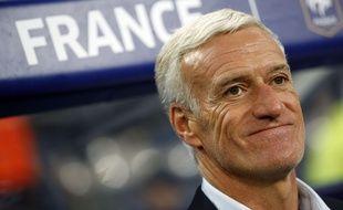 Le sélectionneur de l'équipe de France Didier Deschamps lors du match contre la Biélorussie, le 10 octobre 2017 à Saint-Denis.