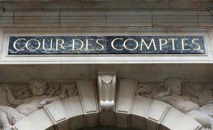 Photographie de la façade de la Cour des comptes le 22 janvier 2013 à Paris