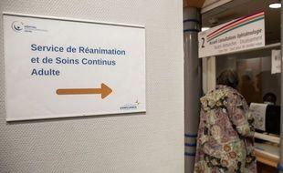 Le service de réanimation du centre hospitalier de Créteil, le 18 février.