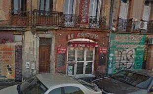 L'immeuble squatté, rue du général Compans à Toulouse.