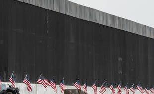 Une partie du mur entre les Etats-Unis et le Mexique, au Texas le 12 janvier 2021.
