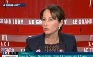 Ségolène Royal,iInvitée du Grand Jury (RTL/LCI/Le Figaro) le 4 janvier 2014.
