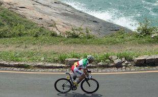 Le cycliste iranien Bahman Golbarnezhad à Rio le 17 septembre 2016.