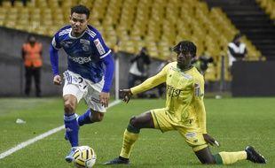 Kader Bamba a été touché derrière la cuisse à la 74e minute.