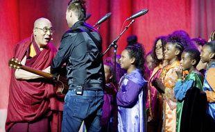 Le Dalai Lama pendant les célébrations de son 80e anniversaire, à Anaheim le 5 juillet 2015.