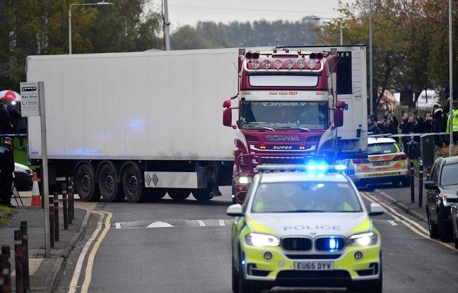 Royaume-Uni: Deux perquisitions en Irlande du Nord après la découverte de 39 corps dans un camion