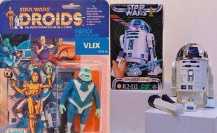 """Des jouets """"Star Wars"""" vendus aux enchères à Drouot."""