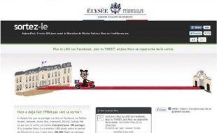 Capture d'écran du site de l'Elysée, piraté dans la nuit du 26 au 27 juillet 2011.
