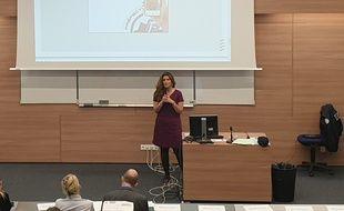 Marlène Schiappa à Marseille lors de la formation sur les outrages sexistes.