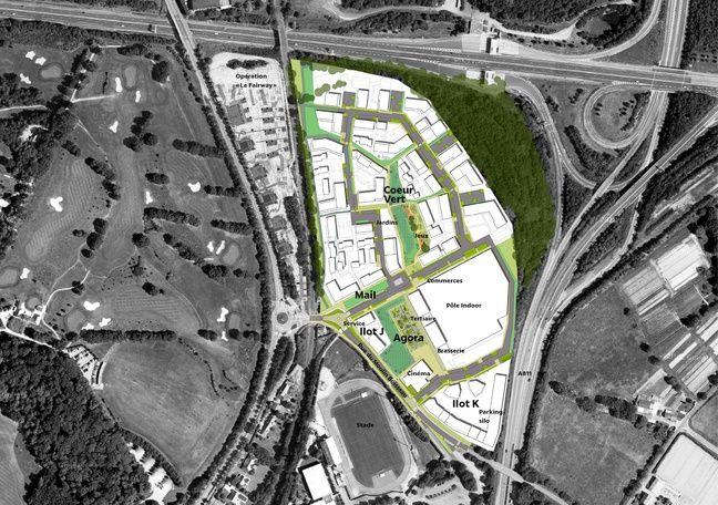 Plan de masse du futur quartier Moulin-Boisseau, à Carquefou.