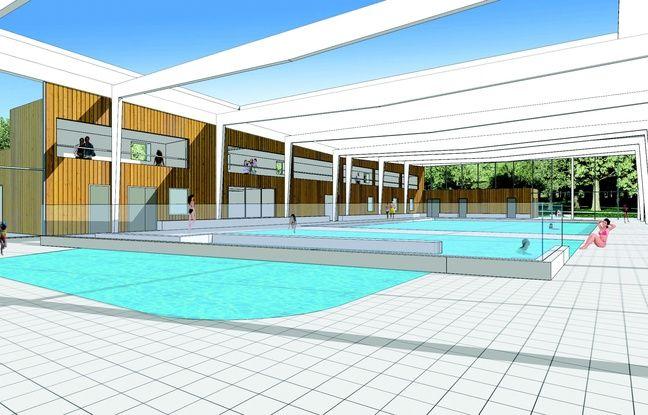 Vue intérieure du projet de piscine intercommunale d'Eysines et du Haillan (Gironde)