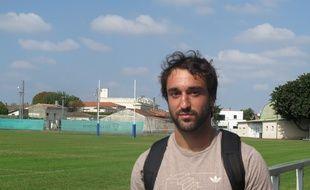 BËgles, le 30 septembre 2014 - Bertrand Guiry, le joueur de l'UBB.