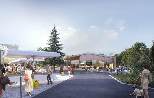 Image de synthèse du projet de halles de Talence (Gironde)