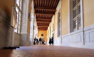 Les couloirs de la cour d'appel de Rennes, dans le Parlement de Bretagne.