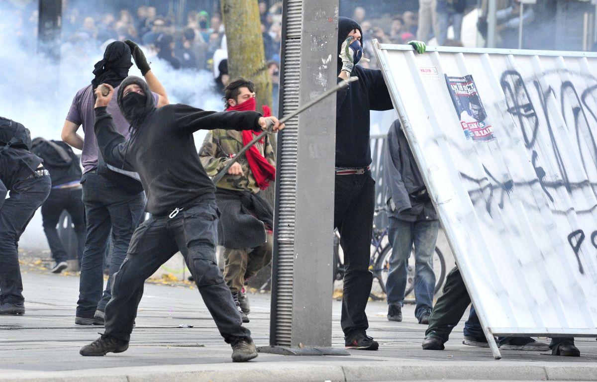 Lors de la manifestation du 1er novembre à Nantes. AFP / G. GOBET – AFP