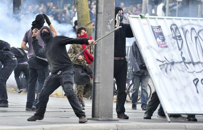 Lors de la manifestation du 1er novembre à Nantes. AFP / G. GOBET
