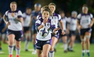 L'ouvreuse de l'équipe de rugby d'Ecosse, Lisa artin, licenciée au LMRCV, à Villeneuve d'Ascq